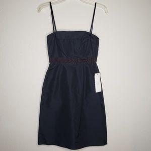 J Crew Emma 100% Silk Navy Prom Formal Dress